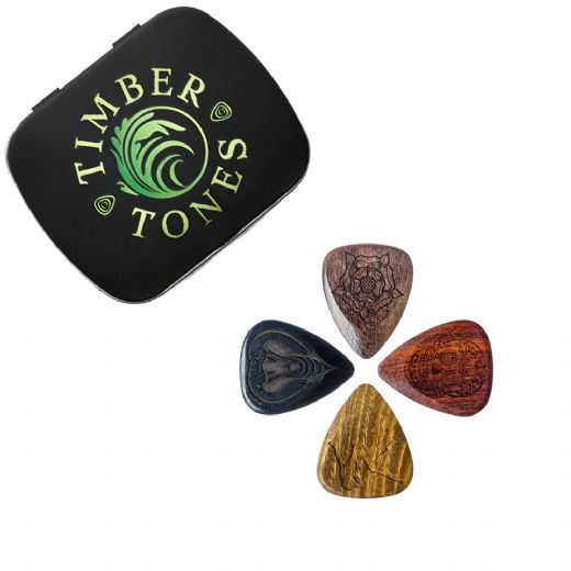 Tattoo Tones Mixed Tin of 4 Guitar Picks